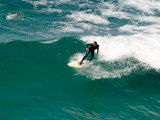 Surfer  St Clair Beach  Dunedin  South Island  New Zealand