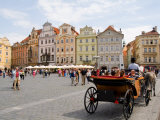 Horse Carriage Ride in the Old Town District  Prague  Czech Republic