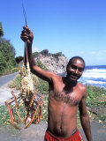 Lobsterman at Grants Bay  St Vincent and the Grenadines