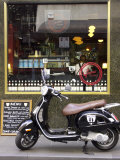 Genovese Coffee and Vespa  Little Collins Street  Melbourne  Victoria  Australia