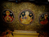 Orthodox Icons on Ceiling of Church in St Paul and Peter's Cathedral  Constanta  Romania