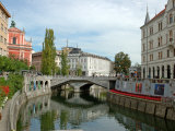 Triple Bridge by Joze Plecnik  Ljubljana  Slovenia