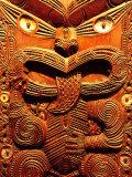 Historic Maori Carving  Otago Museum  New Zealand