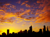 Melbourne CBD at Dawn  Victoria  Australia