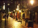 Cobblestone Alleyway  off Collins Street  Melbourne  Victoria  Australia