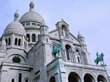 Sacre Coeur  the Sacred Heart Cathedral in Montmartre  Paris  France