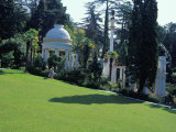 Groomed Lawns of the Botanical Gardens  Sochi  Russia