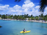 Kayaking near Novotel Hotel at Grand Bay Beach  Guadeloupe