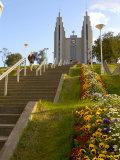 Akureyrikirkja Church  Akureyri  Iceland