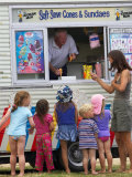 Small Children at Ice Cream Van