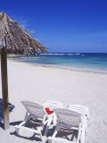 Tropical Beach Scene at Pierre and Vacances Resort  Sainte Anne  Guadeloupe