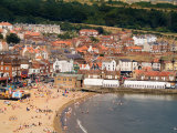 Aerial of Beach  Scarborough  North Yorkshire  England