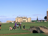 18th Hole and Fairway at Swilken Bridge Golf  St Andrews Golf Course  St Andrews  Scotland