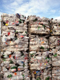 Recycling Industry Plastic and Paper Bound for Shipment Ecology