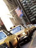 Line of Taxi Cabs in New York City  New York  USA
