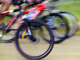 Mountain Bike Race  Bannockburn  near Cromwell  Central Otago  South Island  New Zealand