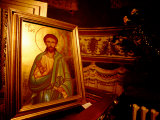 Orthodox Icon Painting in St Paul and Peter's Cathedral  Constanta  Romania
