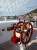 Royal Clipper Helm  Dubrovnik  Croatia