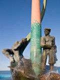 The Fisherman&#39;s Monument at the Playa Los Pinos  Mazatlan  Mexico