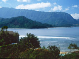 View of Hanalei Bay and Bali Hai from the Princeville Hotel  Kauai  Hawaii  USA