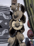Mexican Handicrafts  Straw Hats  and Cactus  Todos Santos  Baja  Mexico