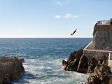 Cliff Diver Diving From El Mirador at Paseo Claussen  Mazatlan  Mexico