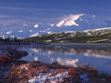 Wonder Lake at Dawn  Denali National Park  Alaska  USA