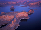 Aerial of Lake Powell  Glen Canyon NRA  Utah  USA