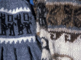 Hand Knit Gloves with Llamas at the Pisac Market  Ruins at Pisac  Peru