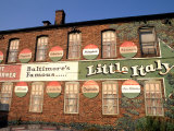 Historic Little Italy Section Signage  Baltimore  Maryland  USA