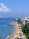 Aerial Parasail at Playa Los Muertos  Puerto Vallarta  Mexico