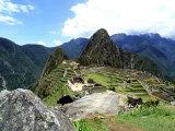 Ruins of Machu Picchu  Peru
