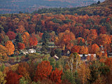 Vermont Town in the Fall  USA