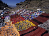 Textiles for Sale near Incan Site  Tambomachay  Peru