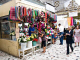 Flower Stand in the Central Market  Mazatlan  Mexico
