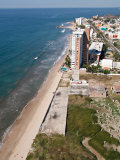 View of the Beach From the El Moro Beach Hotel  Mazatlan  Mexico