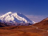 Mt Denali from Stony Hill in Fall  Mt McKinley  Alaska  USA