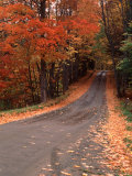 Country Road in Vermont  USA