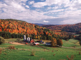 Vermont Farm in the Fall  USA