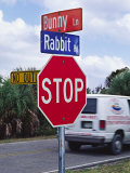 Intersection Sign on Sanibel Island  Florida  USA