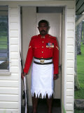 Guard  Former Government House  Suva  Fiji