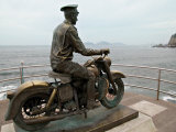 Motorcycle Monument near Punta  Mazatlan  Mexico