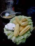 Corn on the Cob with Local Cheese  Ollantaytambo  Peru