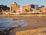 Beach at Olas Altas in Late Afternoon  Mazatlan  Mexico
