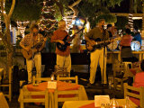 American Folk Music Trio Playing at a Restaurant at the Plazuelo Machado  Mazatlan  Mexico