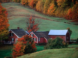 Jenne Farm in the Fall  near Woodstock  Vermont  USA