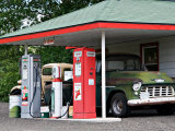 Replica of Old Texaco Station near St John  Washington  USA