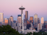 Skyline with Space Needle From Kerry Park  Seattle  Washington  USA