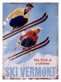 Ski Vermont, The Thrill of a Lifetime Giclée