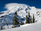 Mt Rainier after Winter Snowstorm  Mt Rainier National Park  Washington  USA